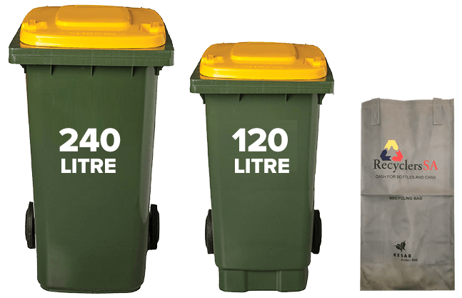 Wheelie Bins Recycling Bags for Sale - AAA Recycling Centre Adelaide